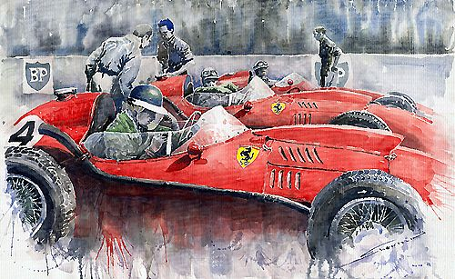 Ferrari Dino 246 F1 1958 Mike Hawthorn French GP