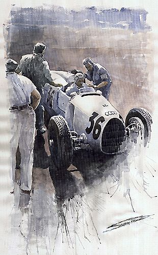 Auto Union B type 1935 Italian GP Monza Rosermeyer