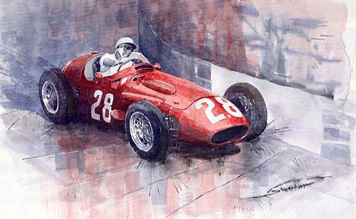 Maserati 250F GP Monaco 1956 Stirling Moss