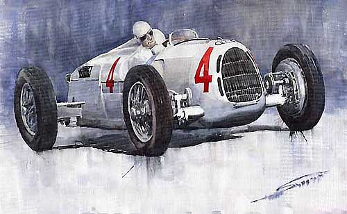 Auto Union C Type 1937 Monaco GP Hans Stuck