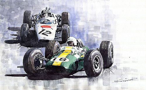 1965 Mexican GP Lotus vs Honda
