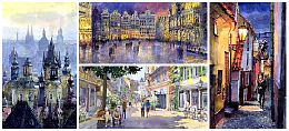 Watercolour Cityscape Paintings