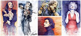 Watercolour Music Portret Paintings