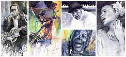 Watercolour Jazz Paintings