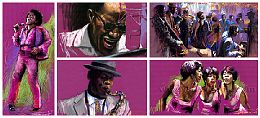 Pastel Jazz Paintings