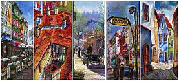 Pastel Cityscape Paintings