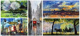 Oil Cityscape Paintings