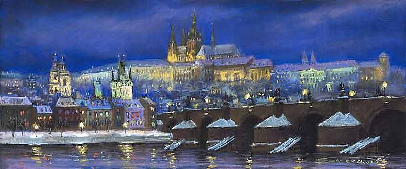 The Prague Panorama Winter
