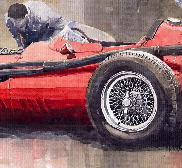 Final check before the start Maserati 250 F 1957