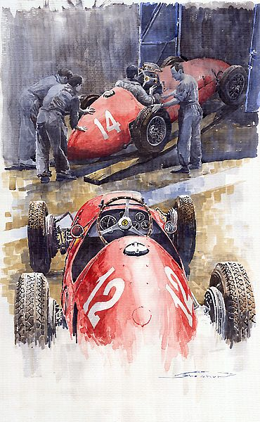 1952 French GP Ferrari 500 F2