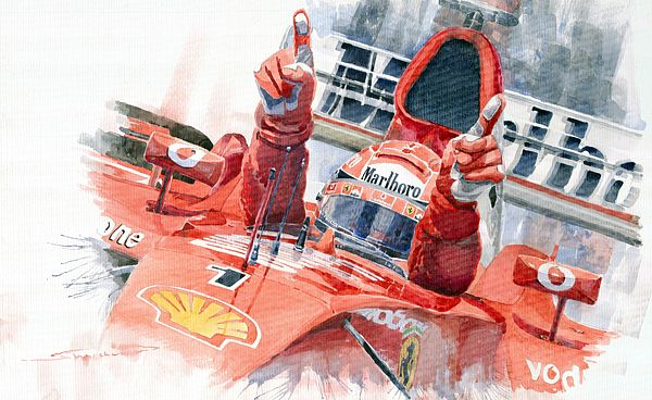 Gallery Of Artist Yuriy Shevchuk Scuderia Ferrari
