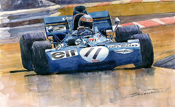 Tyrrell Ford 003 Jackie Stewart French GP 1971 Circuit Paul Ricard