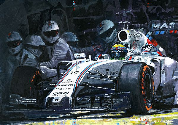 2015 Williams FW37 F1 Pit Stop Spain GP Massa