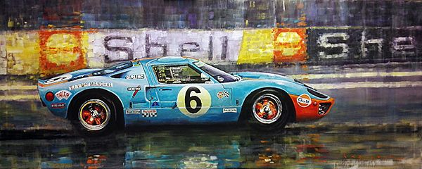 1969 Le Mans 24 Ford GT40 Jacky Ickx Jackie Oliver winner