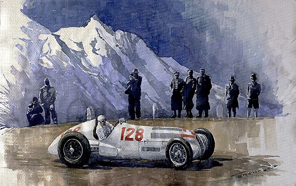 1939 Großglockner mountain race 1939 Hermann Lang Mercedes-Benz W 125