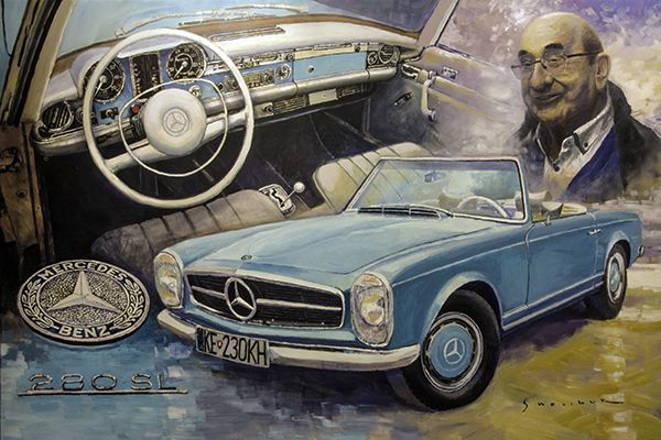 Mercedes Benz 280 SL Pagoda commission