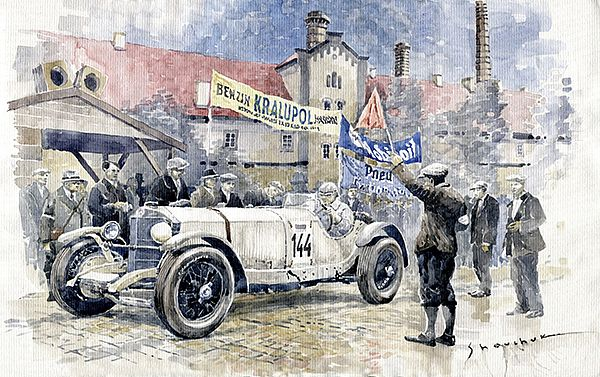1930 Zbraslav-Jiloviste Regularity Ride to the Top Mercedes Benz SSK Rudolf Caracciola winner