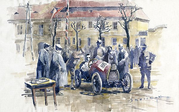 1926 Zbraslav-Jiloviste Regularity Ride to the Top Start Bugatti T13 Brescia