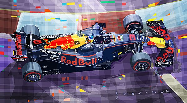 2017 F1 Singapore GP Ricciardo Red Bull Racing