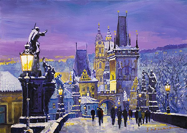Prague Winter Charles Bridge 3